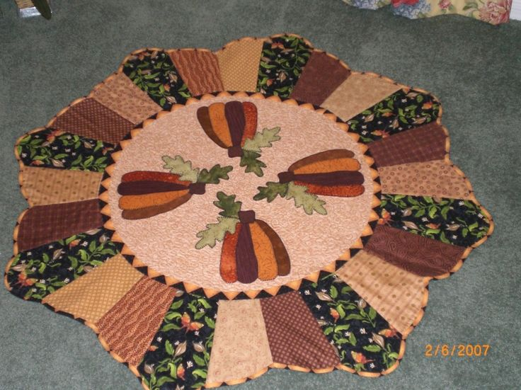 Quilted Round Table Toppers.Free Quilt Pattern For Round Table Topper Cafca Info For