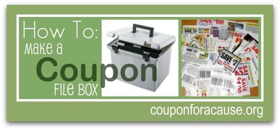 How to make a coupon file box. Coupon Organization.