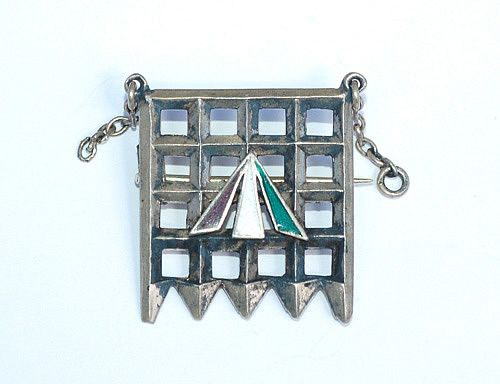 This silver brooch was awarded to suffragettes who had been jailed in Holloway Prison - presented to Constance Collier in 1912, after her imprisonment for breaking the windows of the John Lewis department store in Oxford Street, London in support of the cause