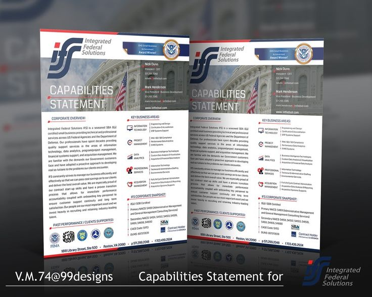 Best Capabilities Statement Images On   Brochures
