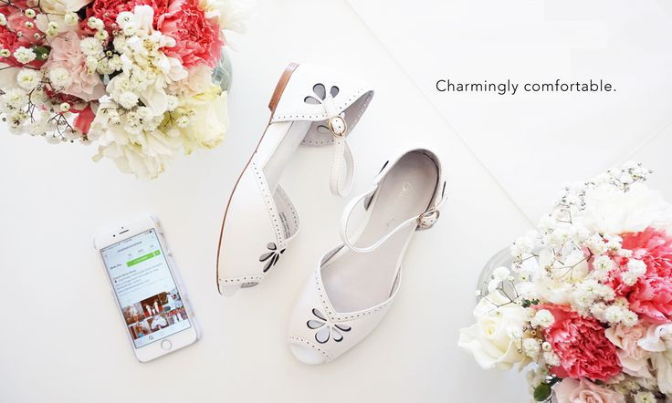 Charmingly comfortable leather vintage flats by Charlie Stone shoes.