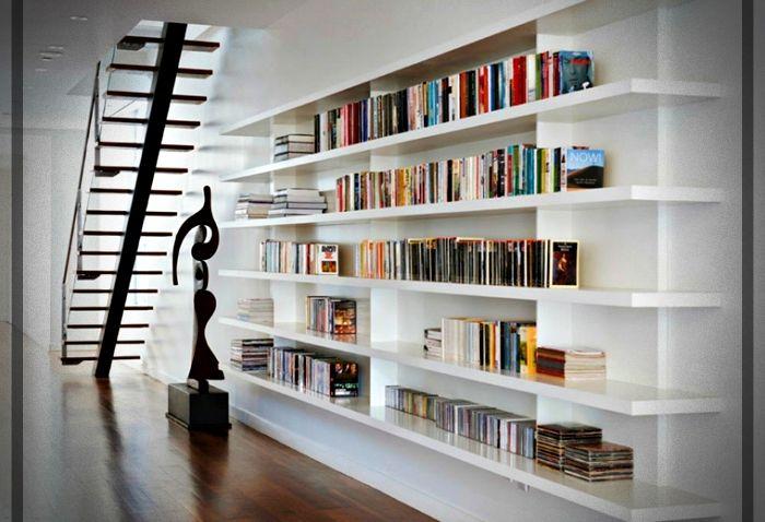 Repisas Para Libros Modernas.Estantes Para Libros Disenos Modernos Y Funcionales Para