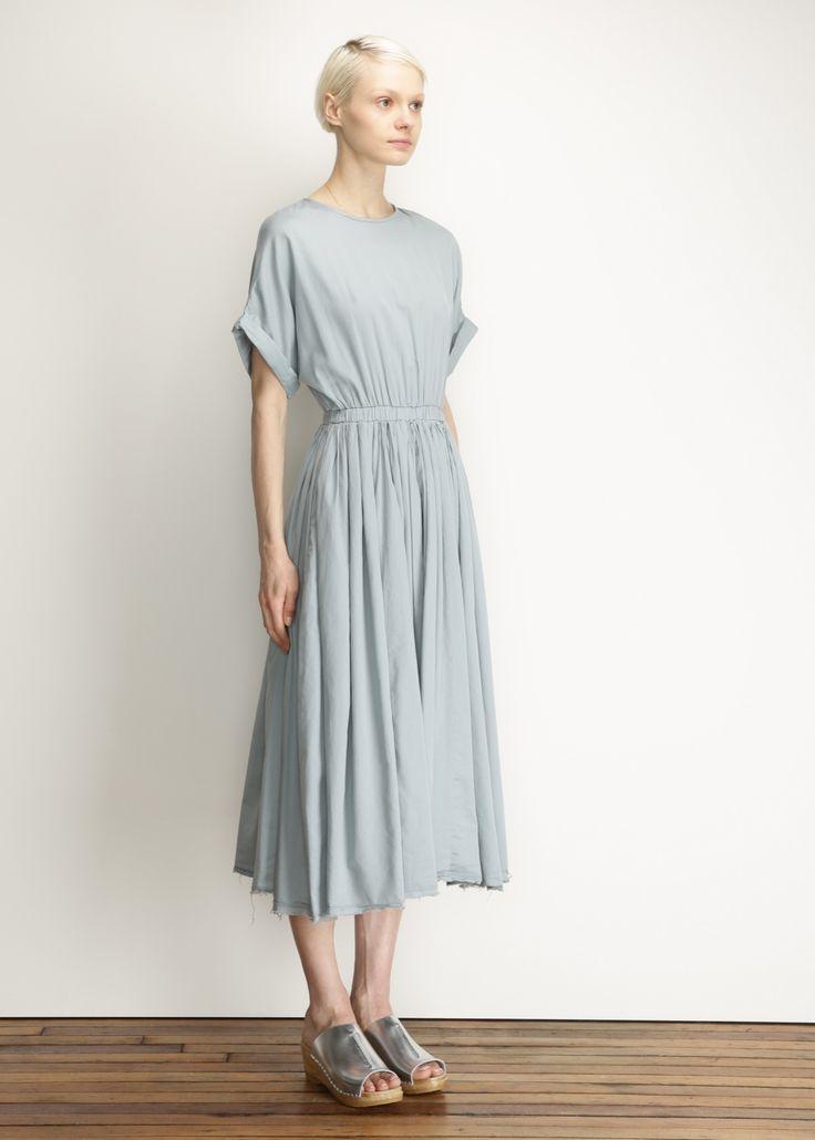 Totokaelo - Black Crane Aqua Pleats Dress