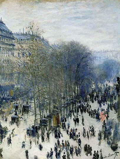 """""""Der Boulevard des Capucines"""" von Claude Monet - 1873 / 1874 (Städel Museum Frankfurt am Main 01.06.2015)"""