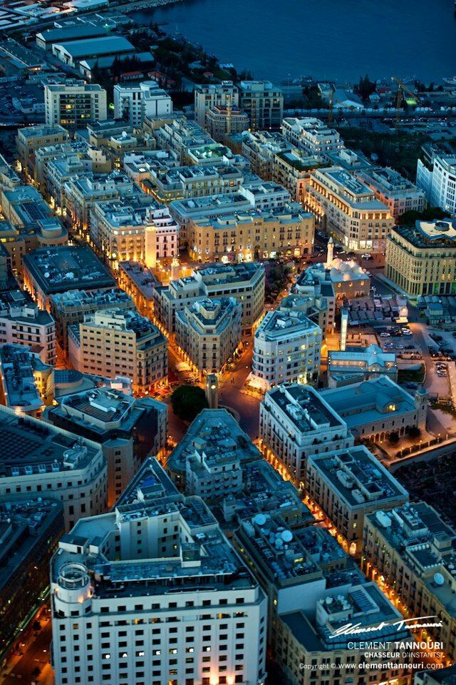 Amazing Downtown Beirut view from top Lebanon