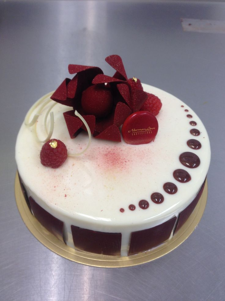 White chocolate raspberry entremet  #nlc #pastries #normanloveconfections