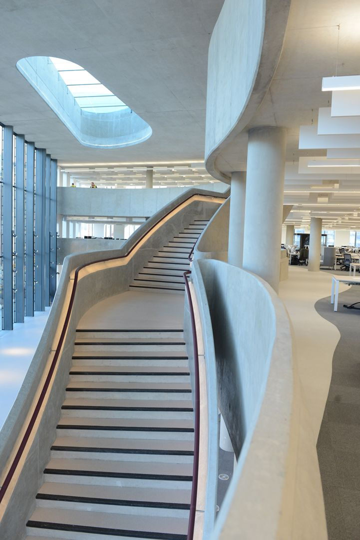 22 best images about glowrail led handrail lighting on for Office stairs design