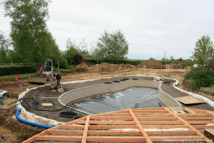 Learn how a Swimming Pond is built and how quickly it takes shape.