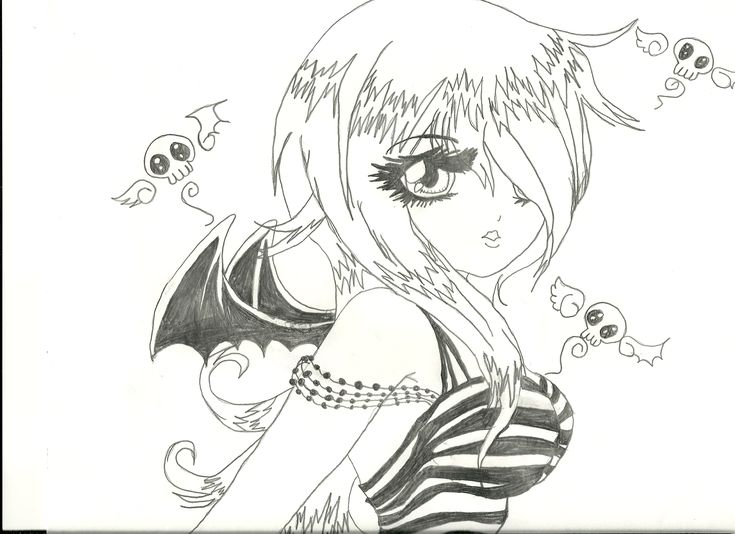 anime ako anime girl school girlninja girlvampirenekoangel - Anime Vampire Girl Coloring Pages
