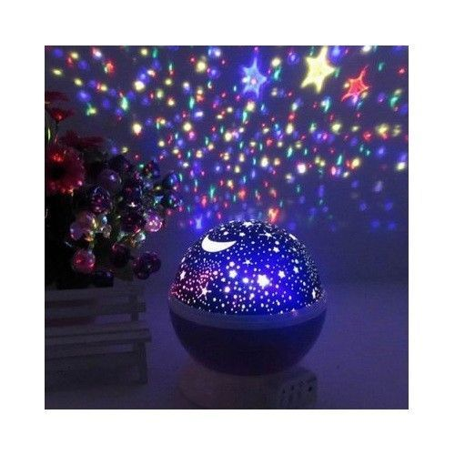 LED Projector Lamp Starry Night Star Light USB Rotary Master Projector Kids Gift #Unbranded