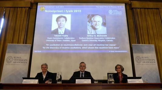Le prix Nobel de physique attribué à Takaaki Kajita et Arthur B. McDonald