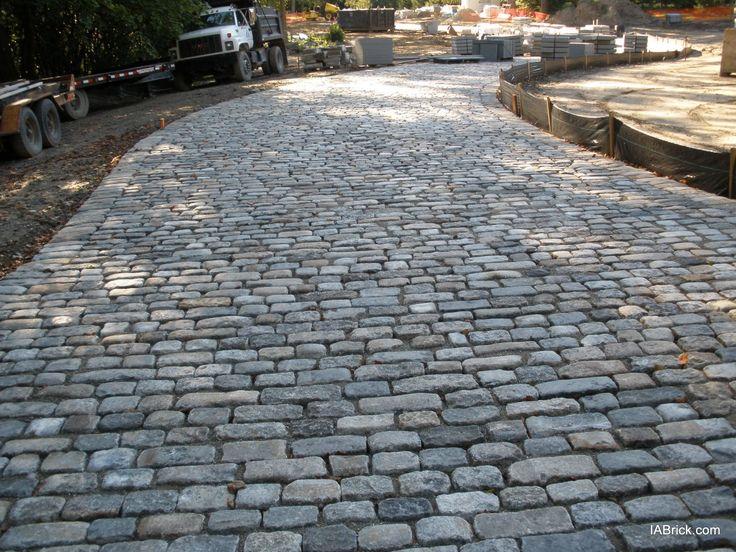 reclaimed cobblestone driveway