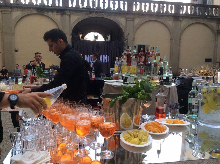 Prosecco, Sprits cocktails ,Coconut Lavender virgin cocktails & Virgin Mohito for the Moschino event at Palazzo Corsini in Florence All Rights Reserved GUIDI LENCI www.guidilenci.com