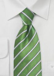 Krawatte XXL feines Streifen-Dekor giftgrün günstig kaufen