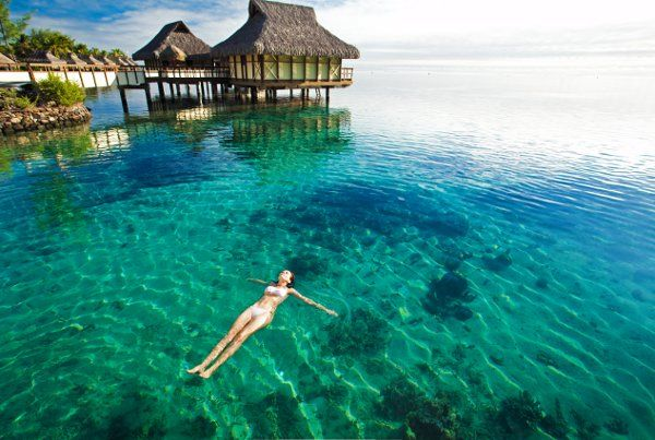 Looking for a little R&R?  The calm blue lagoons of Tahiti provide all the atmosphere you need!