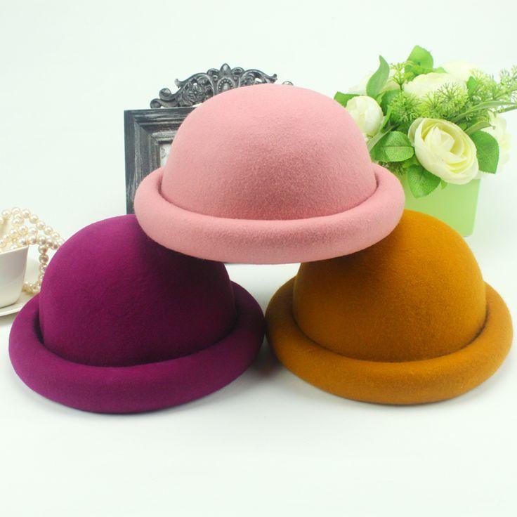 Candy Couleur laine chapeau de curling