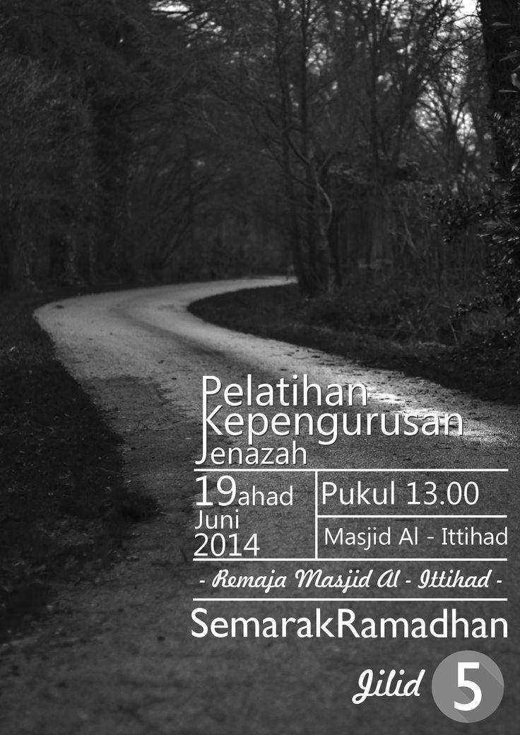 Poster Semarak Ramadhan - Pelatihan Kepengurusan Jenazah