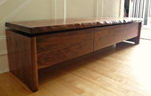 Walnut Wood Storage Bench