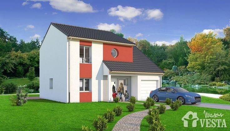 Maisons VESTA :  Modèle Marquises. Surface : 90m² + 24m² de surface annexe (F5) ou 102m² + 24 m² de surface annexe (F6)