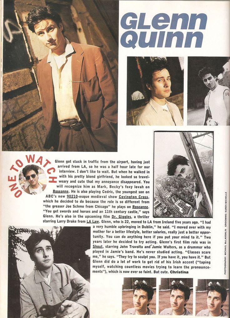 Sassy November 1992 One to Watch - Glenn Quinn