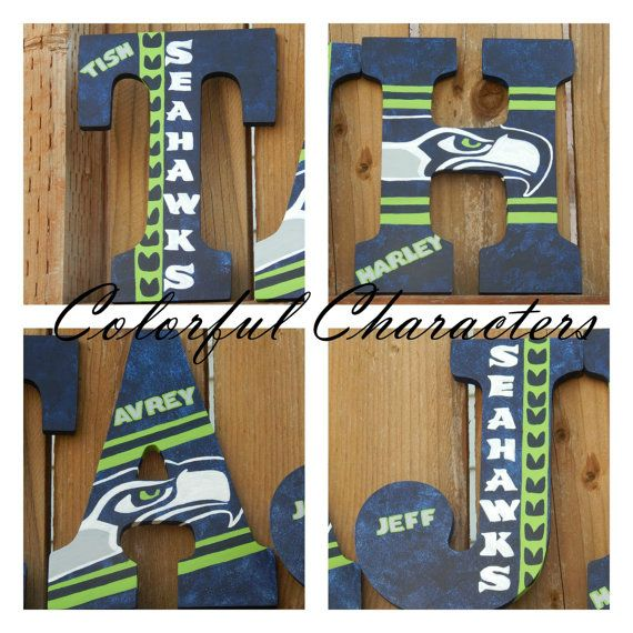 Hey, I found this really awesome Etsy listing at https://www.etsy.com/listing/221157246/seattle-seahawks-painted-letter-custom