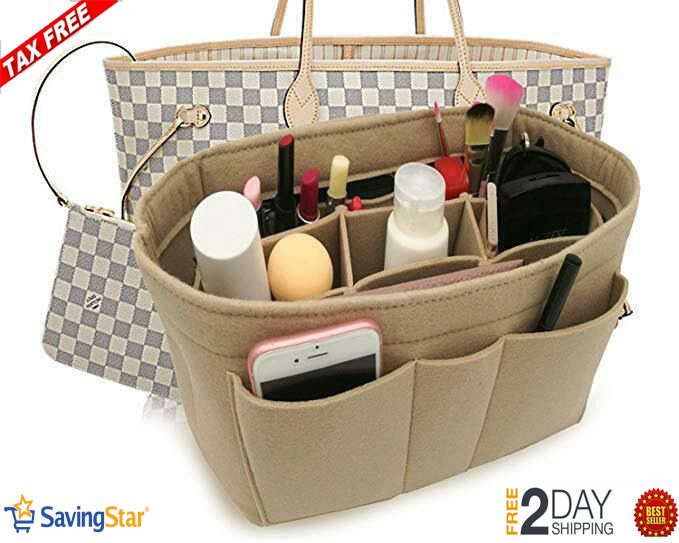 Fits LV Speedy Felt Insert Bag Organizer Bag In Bag For Handbag Purse Tote Bag