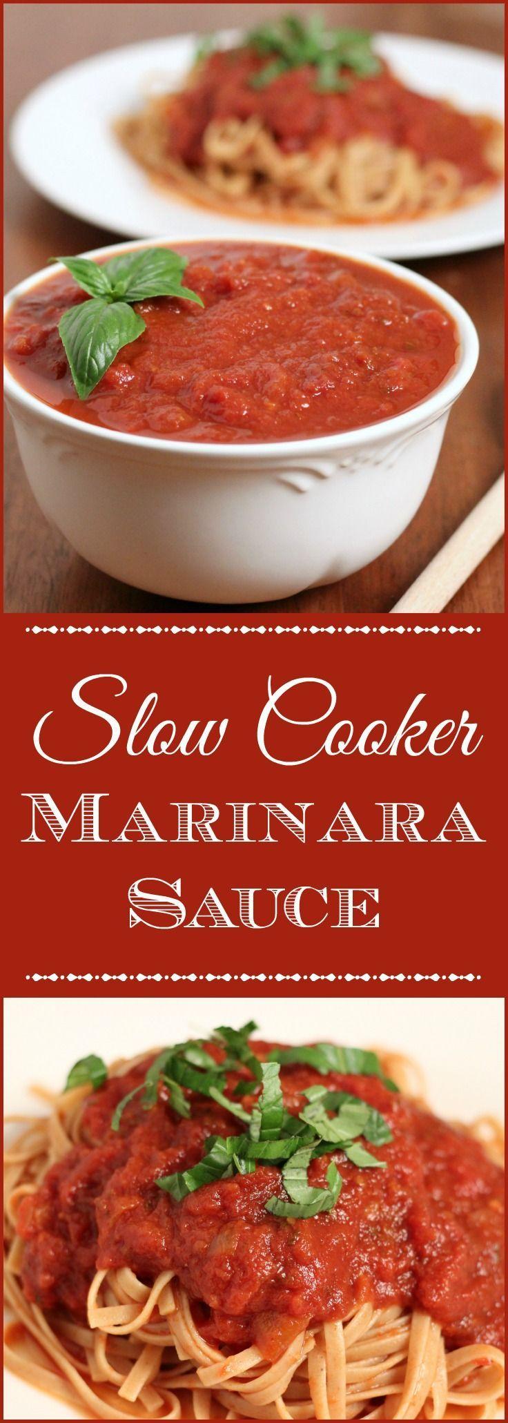 Slow Cooker Marinara Sauce: