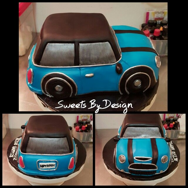 Mini Cooper 3D cake