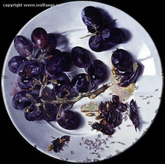 Il piatto dell'uva regina