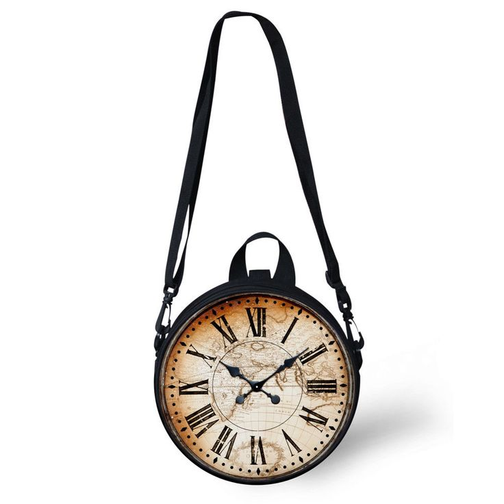 Retro Clock Watch Women S Shoulder Bag Novelty Round