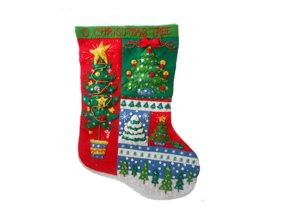 80 best christmas stockings images on pinterest retro christmas jeweled felt christmas stocking to personalize and sew bucillas o christmas tree nearly complete kit diy solutioingenieria Images