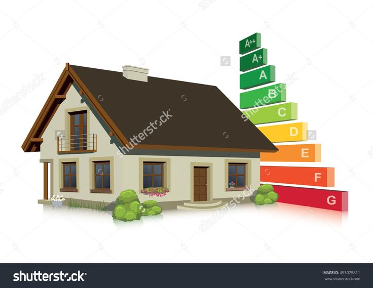 Energy Efficiency Classification In The Home Stock Vector Illustration 453075811…