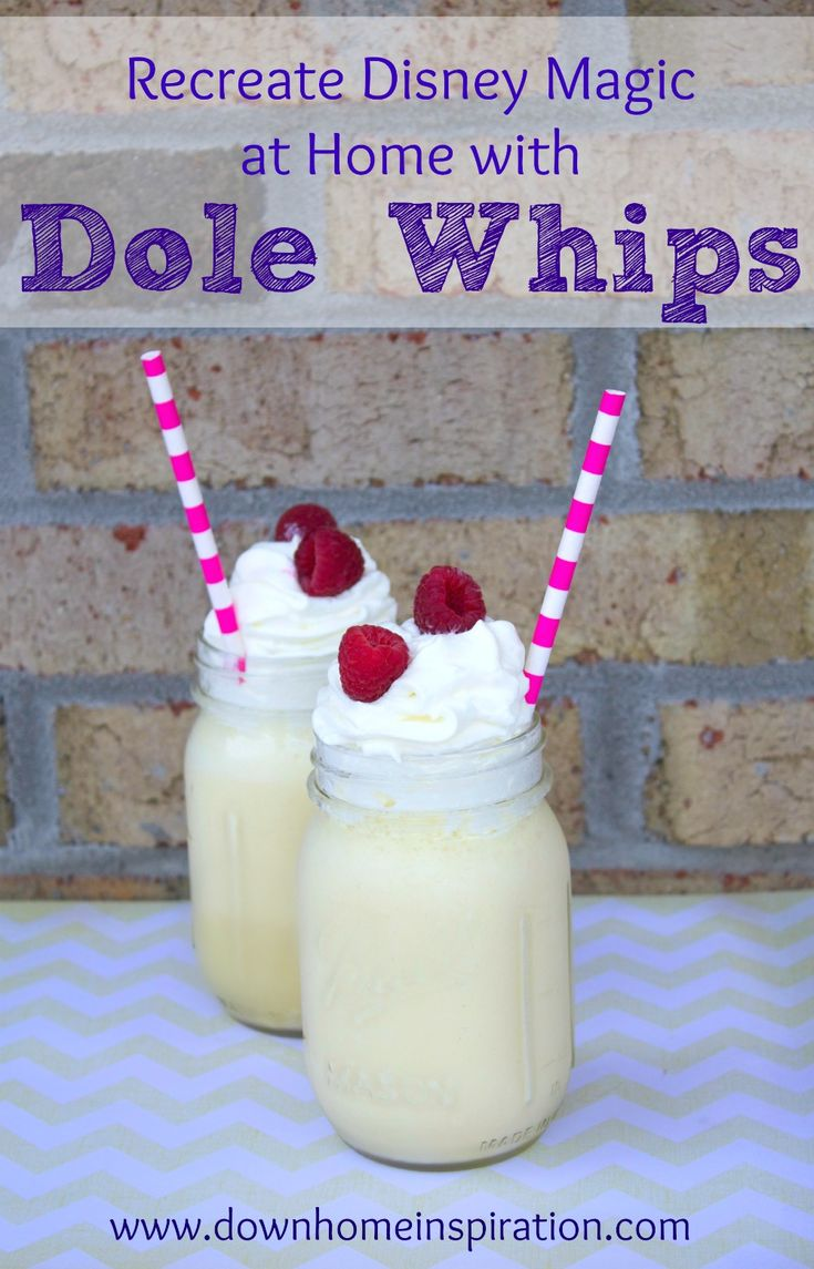 Seriously, my favorite treat at Disney World!  This sounds so good!  Recreate Disney Magic at Home with DIY Dole Whips - Down Home Inspiration