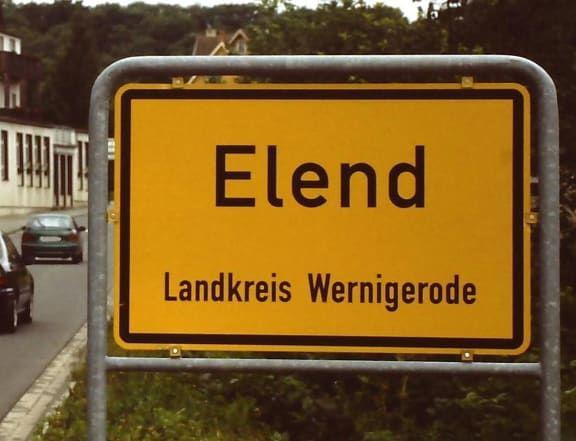 Elend in Sachsen-Anhalt.