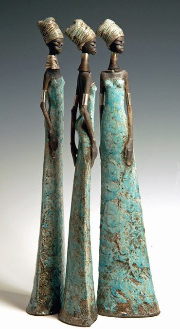 Tony Foard, 3 African women, Ceramics
