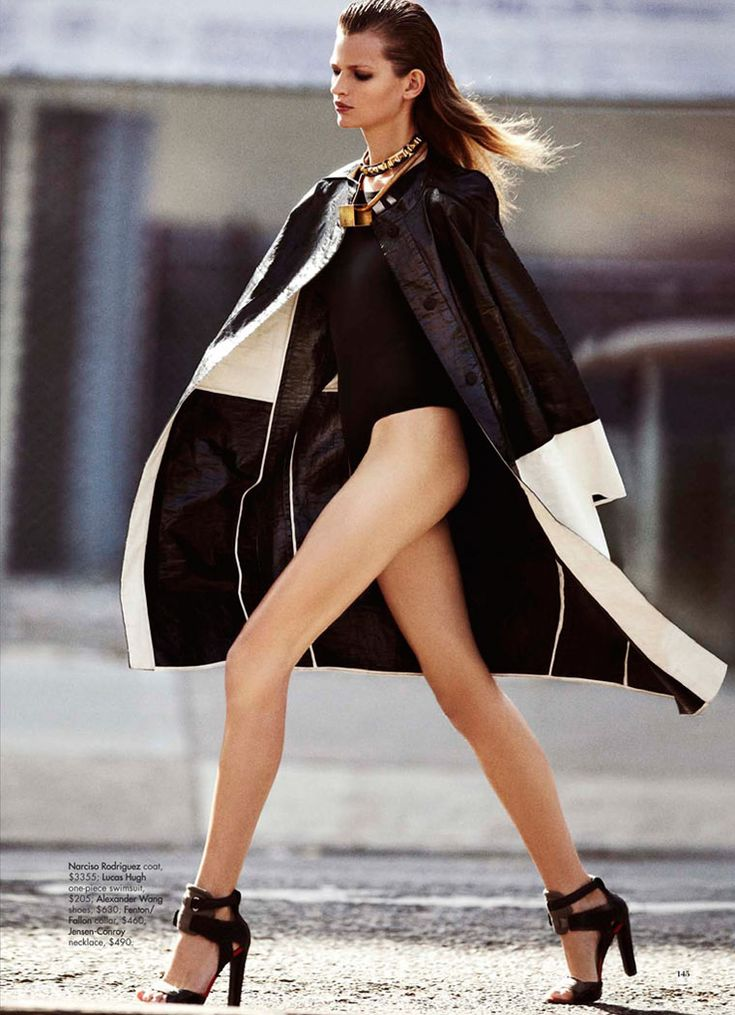 Narciso Rodriguez coat. Bette Franke Harper's Bazaar Australia January 2012