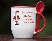 Dear Santa Define Good Christmas Spoon Mug, Funny Christmas Hot Chocolate MUG, Funny Christmas Hot Cocoa Mug, Kids Cocoa Mug Kids Gift MH12   #mug #designsbylindanee #designsbylindaneetoo #gift #personalized #spoonmug #santa #santaclaus #kidsmug #kids #dearsanta #definegood #Christmas #christmasmug #christmasgift #hotchocolate #cocoa #cocoamug #funny #lol #kidsgift #custom