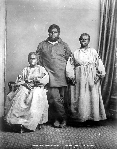 William Lanne(y) with Truganini: some of the last unmixed Tasmanian Aborigines (1860).