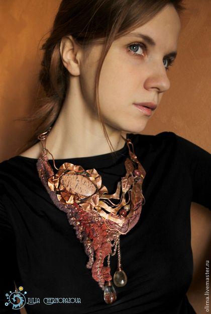 """""""Висячие сады Семирамиды"""" колье Mixed media necklace by Julia Chernopazova via www.livemaster.ru"""