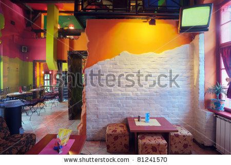 Clean And Modern Cafe With Home Style Design   Capital Kitchen. See More.  Stock Photo : Interior Of Modern Cafe, Mainstream, Modern Pop Style.