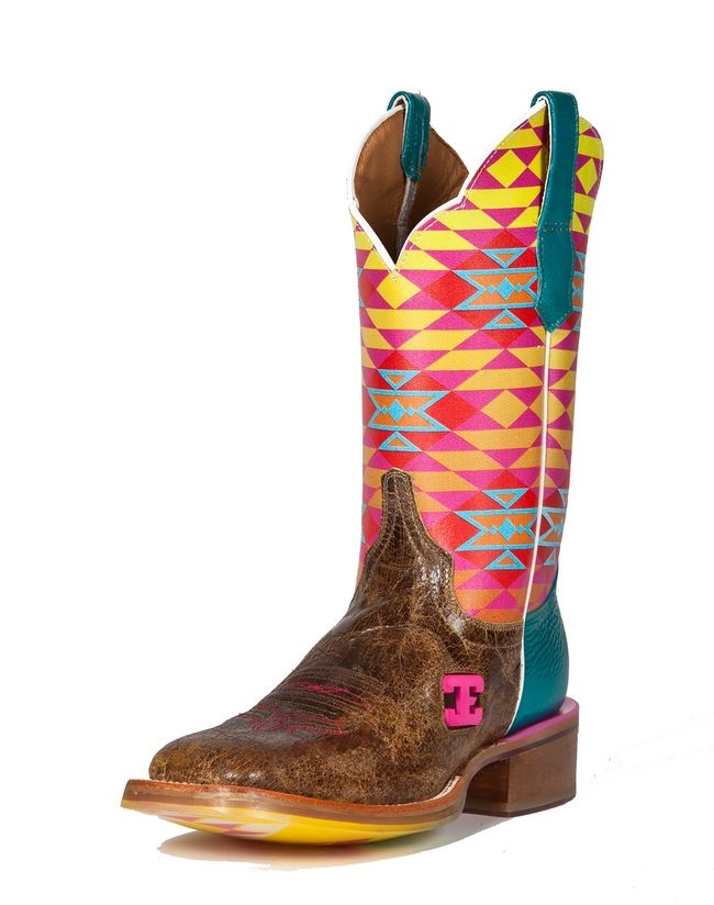 Cinch Edge Womens Fritzy Square Toe Cowgirl Boots