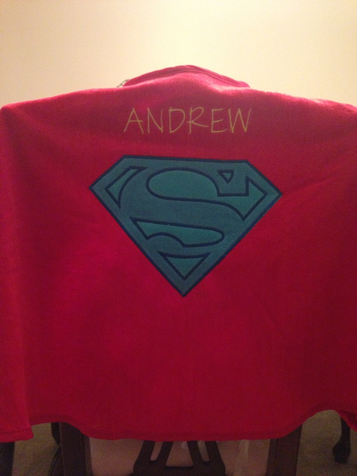 Target superman beach towel - added name  great child bday gift under $15.