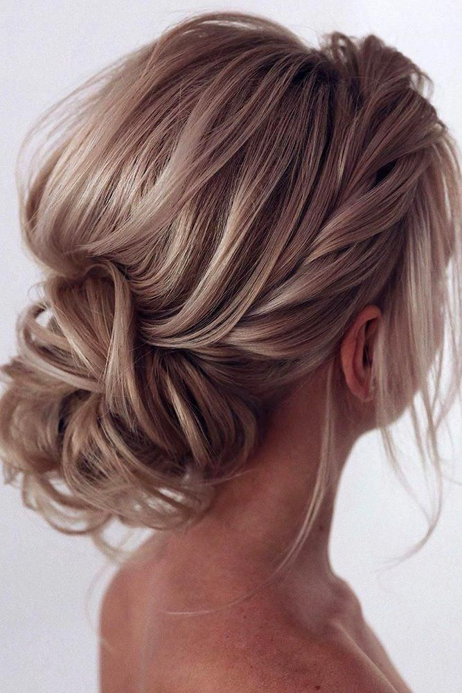 30 Bridal Hairstyles For Perfect Big Day Party Bridal Hairstyles Relaxed Textured Low Updo Tonya Hair Styles Hairdo For Long Hair Wedding Hairstyles Tutorial