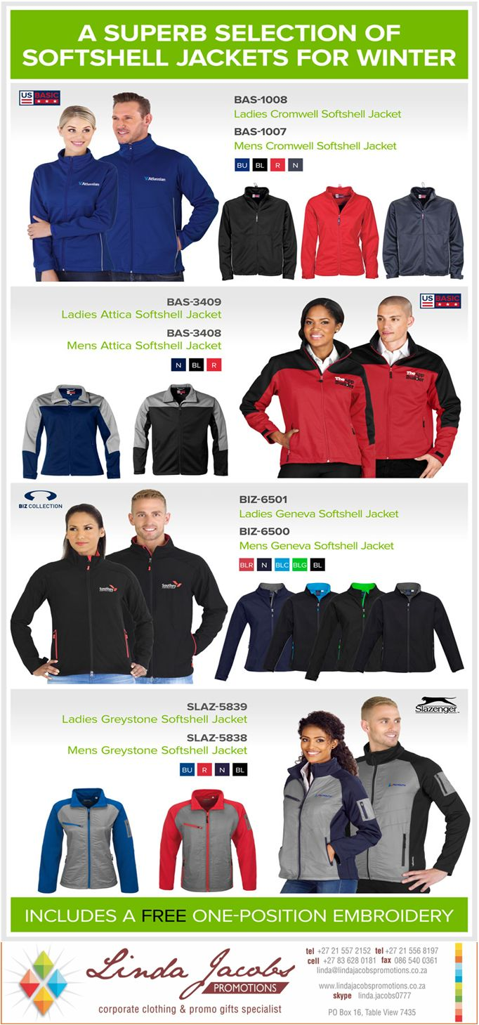 #BrandedJackets contact us for quote - linda@lindajacobspromotions.co.za 021 5572152 0836280181 http://buff.ly/29vdaRo #brandedjackets