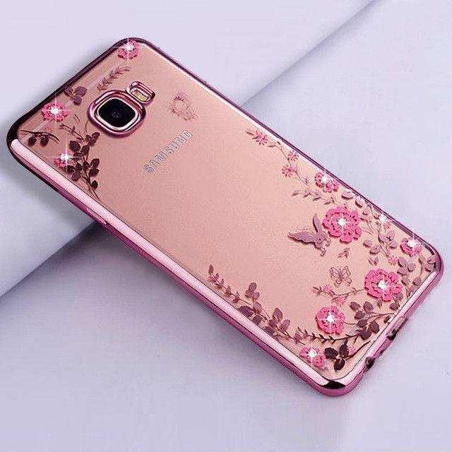 luxury gold tpu original phone coque cover case for samsung galaxy a5 2017 a520 silicon silicone transparent diamond accessories