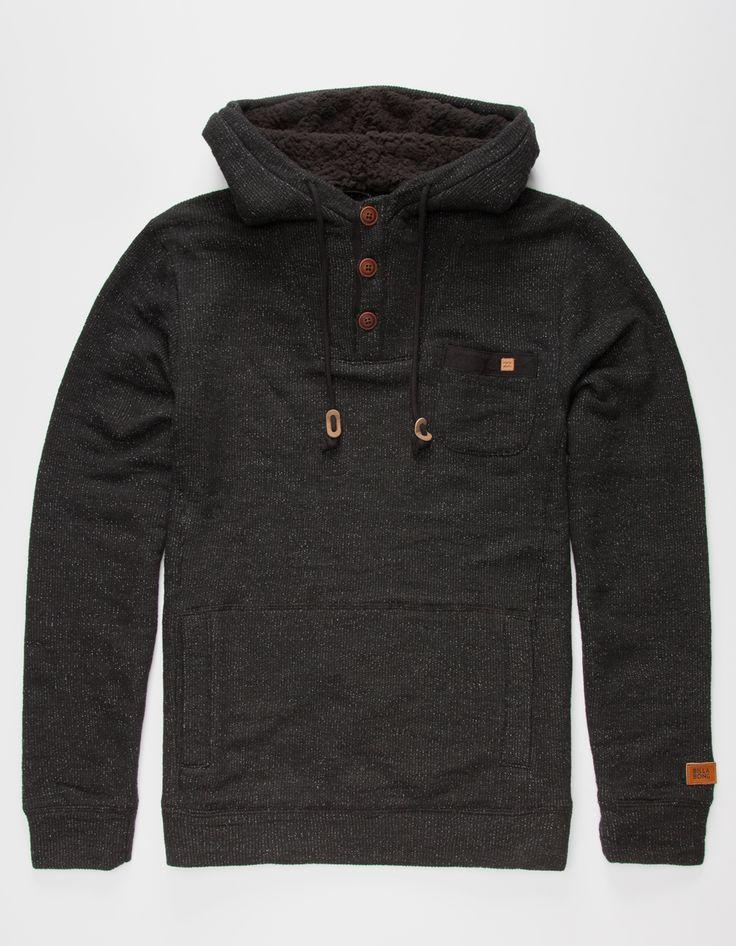 BILLABONG Rasta Mens Henley Hoodie 267806110   Sweatshirts