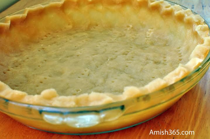 """This is the easy pie crust (known as """"pat a pan"""") recipe that we used for the lemon meringue pie this week.  This pie crust recipe was in the Amish Cook's Baking Book and has become our go-to crust recipe. What we like about this is that you don't have to roll it out, …"""
