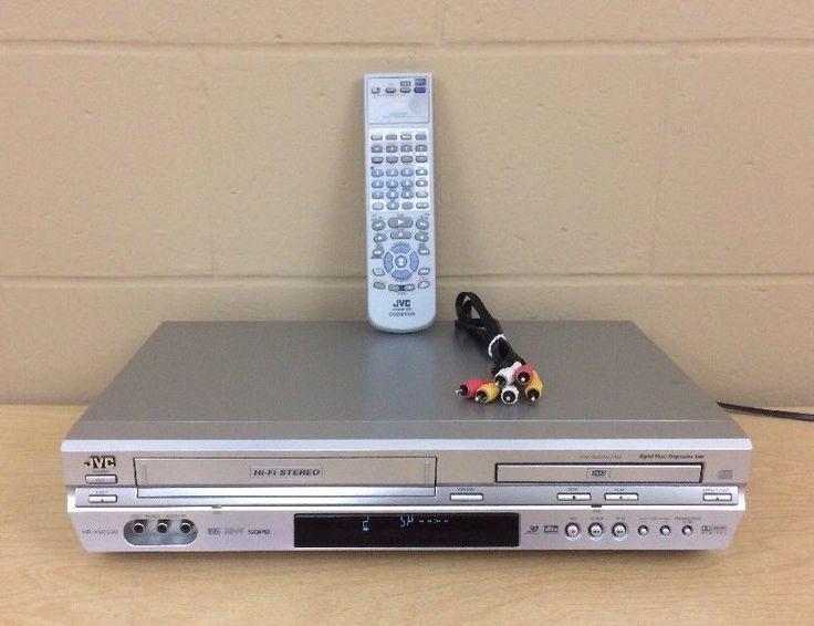 JVC DVD Player VCR CD HR-XVC33U Hi Fi Digital Direct Progressive Scan Remote Av #JVC
