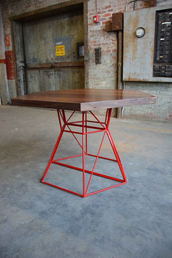 Modern Hexagon Dining Table with Extension Top in by PWHFurniture