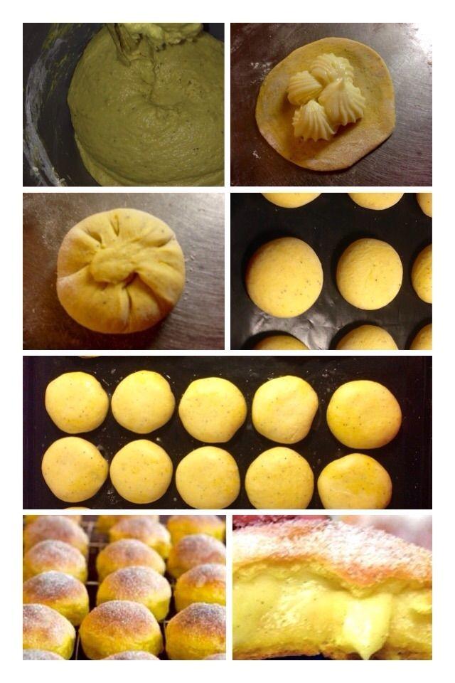 Saffransbullar fyllda med vaniljkräm | RababsMatlagning